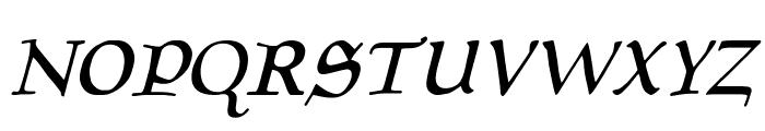 Planewalker Italic Font UPPERCASE