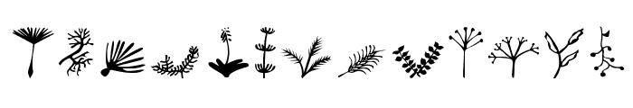 Plants Font UPPERCASE