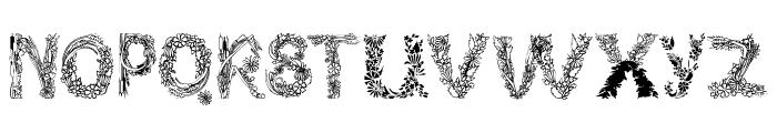 PlantsLetters Font UPPERCASE