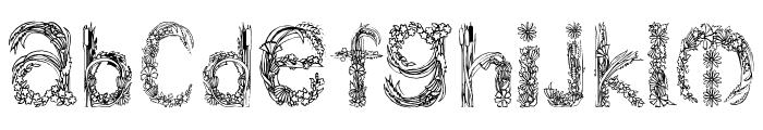 PlantsLetters Font LOWERCASE