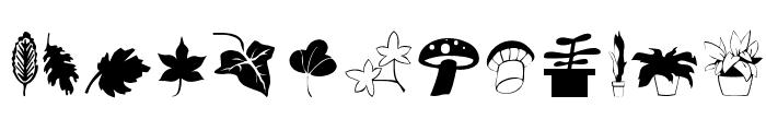 Plants Font LOWERCASE