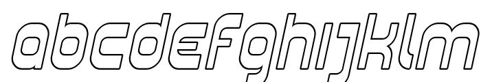 Plasmatica Outline Italic Font LOWERCASE