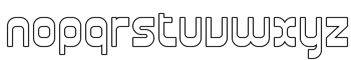 Plasmatica Outline Font LOWERCASE