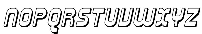 Plasmatica Shaded Italic Font UPPERCASE