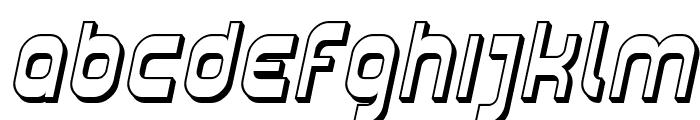 Plasmatica Shaded Italic Font LOWERCASE