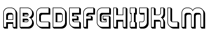 Plasmatica Shaded Font UPPERCASE