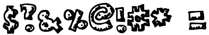 Plastic Font OTHER CHARS