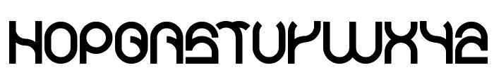 Plastic Font UPPERCASE