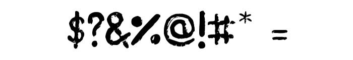 Plasticine Font OTHER CHARS