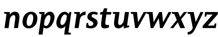 PlatanBG-BoldItalic Font LOWERCASE