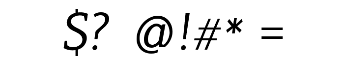 PlatanBG-Italic Font OTHER CHARS