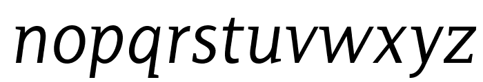 PlatanBG-Italic Font LOWERCASE