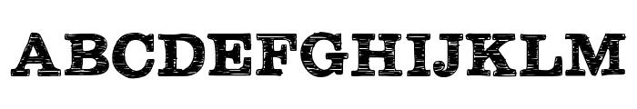 Plateaux Font UPPERCASE