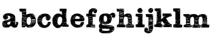 Plateaux Font LOWERCASE