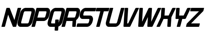 Plavsky Condensed Bold Italic Font UPPERCASE