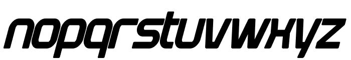 Plavsky Condensed Bold Italic Font LOWERCASE