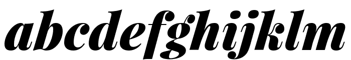 Playfair Display Black Italic Font LOWERCASE