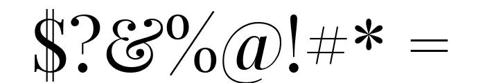 Playfair Display Regular Font OTHER CHARS