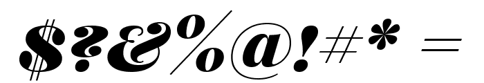 Playfair Display SC Black Italic Font OTHER CHARS