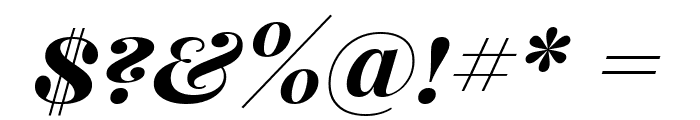 Playfair Display SC Bold Italic Font OTHER CHARS