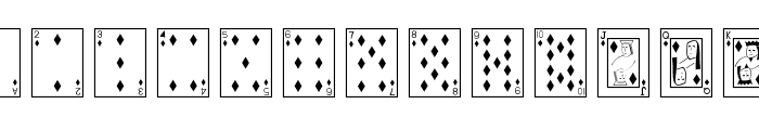 Playing Cards Font UPPERCASE
