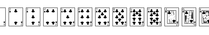 Playing Cards Font LOWERCASE