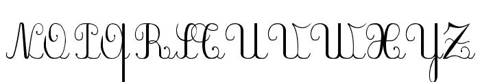 Plum Script Font UPPERCASE