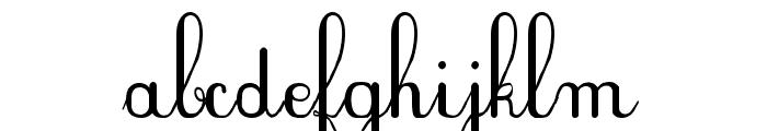 Plum Script Font LOWERCASE