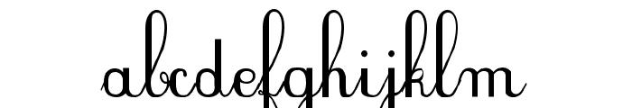 PlumBDE Font LOWERCASE