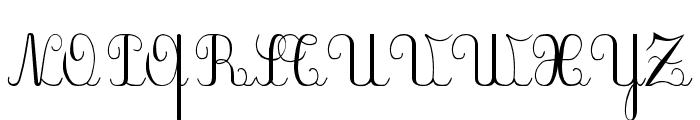 PlumNAE Font UPPERCASE