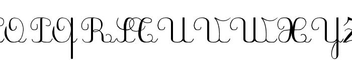 PlumNAL Font UPPERCASE