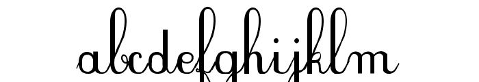 PlumNDE Font LOWERCASE