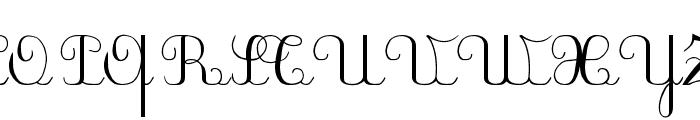 PlumNDL Font UPPERCASE