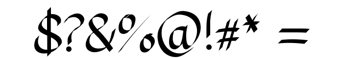PlumePLUME Font OTHER CHARS