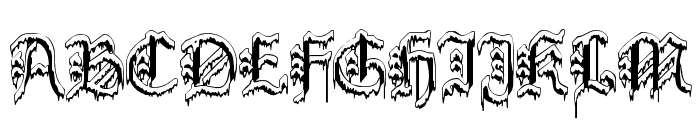 PlymouthRock 'SnowDusted' Font UPPERCASE