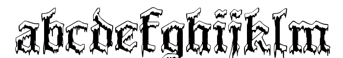PlymouthRock 'SnowDusted' Font LOWERCASE