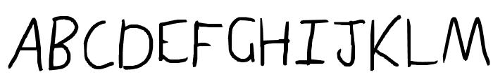 plain sexy Font UPPERCASE
