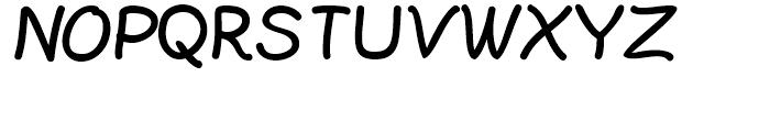 Plain Pensle ExtraBold Font UPPERCASE