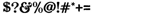 Planchette Regular Font OTHER CHARS