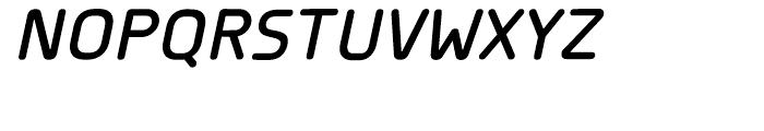 Planer DemiBold Italic Font UPPERCASE
