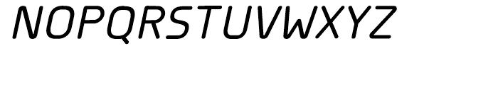 Planer Medium Italic Font UPPERCASE