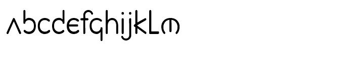 Planet Sans Book Font LOWERCASE