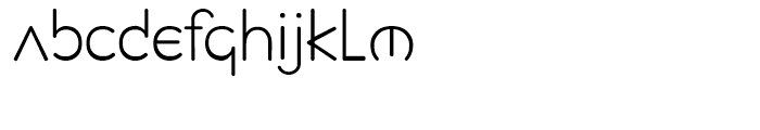 Planet Sans Light Font LOWERCASE
