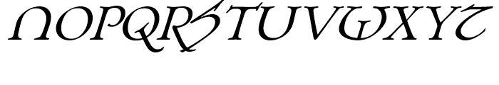 Planet Serif Bold Italic Font UPPERCASE