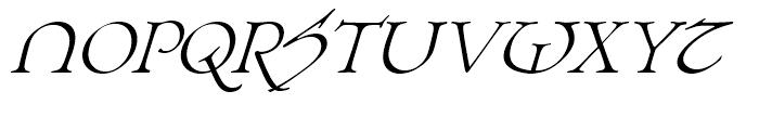 Planet Serif Demi Italic Font UPPERCASE