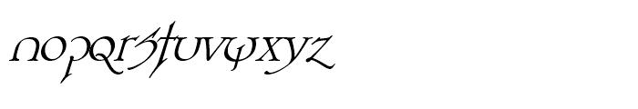 Planet Serif Demi Italic Font LOWERCASE