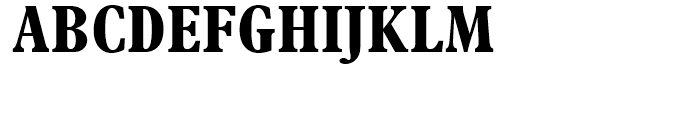 Plantin A Condensed Bold Font UPPERCASE
