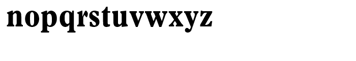 Plantin A Condensed Bold Font LOWERCASE