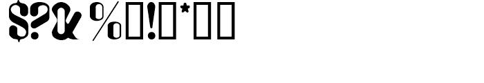 Plastico Regular Font OTHER CHARS