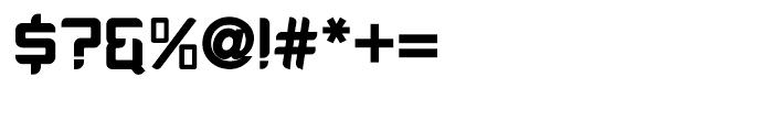 PlatformOne Black Font OTHER CHARS